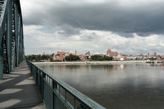 Ponticello sul Vistula. Immagine Stock