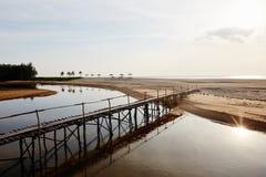 Ponticello sulla spiaggia Immagine Stock Libera da Diritti