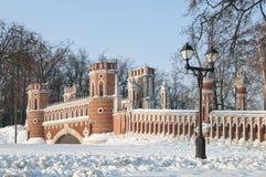 Ponticello in Tsaritsino, Mosca Fotografie Stock Libere da Diritti