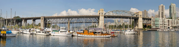 Ponticello Vancouver della via di Burrard BC Fotografia Stock Libera da Diritti
