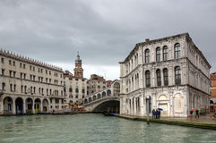 Ponticello Venezia di Rialto Fotografia Stock Libera da Diritti