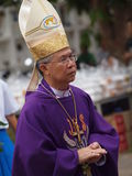 Pontiff Phillip Banchong Chaiyara diocese of Ubon Royalty Free Stock Photography