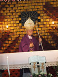 Pontiff Phillip Banchong Chaiyara on holy platform Stock Photography