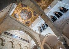 The inside of Saint Nicola Basilica in Bari, Apulia, southern Italy. Royalty Free Stock Image