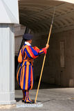 Pontifical Swiss Guard, Vatican city Royalty Free Stock Photography