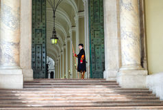 Pontifical Swiss guard at Vatican Royalty Free Stock Photos