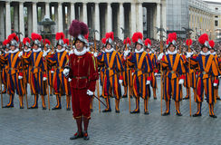 Pontifical Swiss Guards. Stock Photography