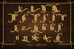 The Pontifice - vintage gothic label font Royalty Free Stock Images