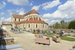 Pontigny-Abtei Stockfotos