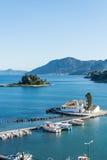 Pontikonisi, Corfu, Grecja Zdjęcia Stock