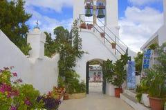 Pontikonisi island and Church of Pantokrator, Corfu Stock Photo
