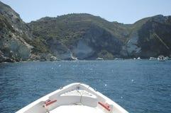 Pontine öar i sommar Arkivfoton