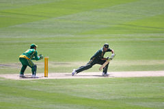 Ponting c Boucher b Botha Royalty Free Stock Photography