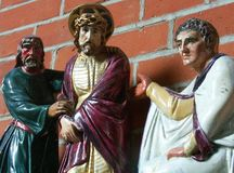 Pontius Pilate and Jesus Royalty Free Stock Images