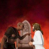 Pontius Pilate The Trial van Jesus Illustration Royalty-vrije Stock Foto's