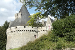 Pontivy Castle (Brittany - France) Royalty Free Stock Photography