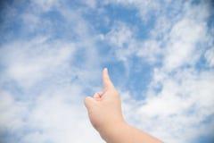 Ponto às nuvens Fotos de Stock