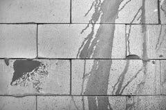 Ponto abstrato da pintura em uma parede de tijolo desencapada branca Fotografia de Stock Royalty Free