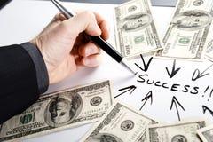 Ponto ao sucesso Imagens de Stock