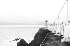 Ponto Bonita Lighthouse imagem de stock