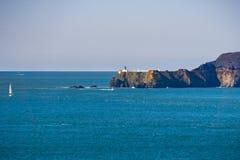 Ponto Bonita Lighthouse e Marin Headlands, San Francisco, Califórnia imagens de stock