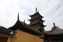 Ponto cênico de langshan província em Nantong, Jiangsu, China Fotos de Stock