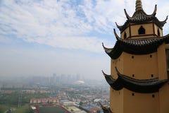 Ponto cênico de langshan província em Nantong, Jiangsu, China Fotos de Stock Royalty Free