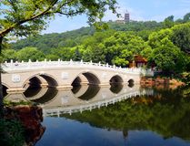 Ponto cênico de langshan província em Nantong, Jiangsu, China Imagens de Stock Royalty Free