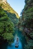 Ponto cênico do tribo de Three Gorges ao longo do Rio Yangtzé Imagens de Stock