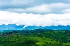 Ponto Cukul do nascer do sol, Pangalengan, Java ocidental Fotografia de Stock Royalty Free