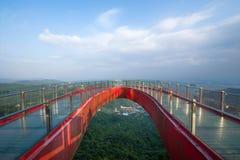 Ponto culminante do leste de OUTUBRO Shenzhen Meisha de uma ponte em forma de u fotografia de stock royalty free