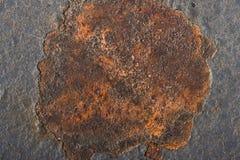 Ponto da oxidação na textura do metal fotos de stock royalty free