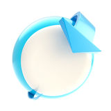 Ponto da seta da curvatura à tecla circular Imagem de Stock Royalty Free