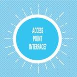 Ponto de acesso Interfacequestion da escrita do texto da escrita O significado do conceito permite que o dispositivo sem fios con foto de stock royalty free