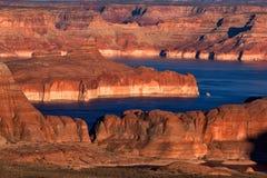 Ponto de Alstrom, lago Powell, página, o Arizona, Estados Unidos Foto de Stock