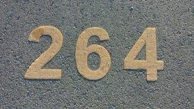 Ponto de estacionamento numerado Fotos de Stock