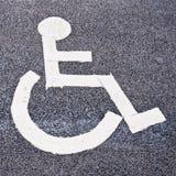 Ponto de estacionamento para incapacitado Imagem de Stock