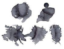 Ponto de Gray Watercolor ilustração do vetor