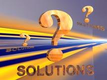 Ponto de interrogação com solução. Imagens de Stock