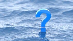 Ponto de interrogação como a ondinha da água Imagens de Stock Royalty Free