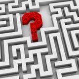 ponto de interrogação 3d no labirinto Imagem de Stock Royalty Free