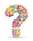 Ponto de interrogação, das estrelas coloridas Ilustração Stock