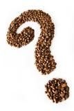 Ponto de interrogação do café Fotos de Stock Royalty Free