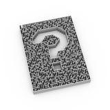 ponto de interrogação do labirinto 3d Foto de Stock