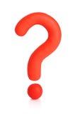 Ponto de interrogação do Plasticine. Trajeto de grampeamento Imagens de Stock Royalty Free