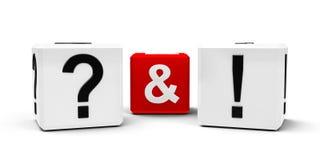 Ponto de interrogação e ponto de exclamação Imagens de Stock Royalty Free
