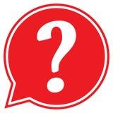 Ponto de interrogação em uma bolha do discurso Ícone do ponto de interrogação Fotografia de Stock