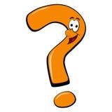 Ponto de interrogação enfrentado de sorriso dos desenhos animados Fotos de Stock Royalty Free