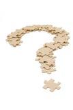 Ponto de interrogação feito por enigmas Fotografia de Stock Royalty Free