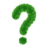 Ponto de interrogação verde Fotos de Stock